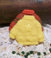 Silicone Sweater With Stars Soap Candle Tart Mold
