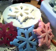 Silicone Snowflake Snow Flake Soap Candle Mold