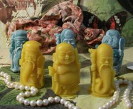 3 Silicone Buddha Wise Men Soap Candle Molds
