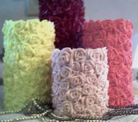 Silicone Rose Tower Pillar Candle Mold