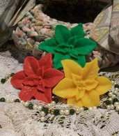 Silicone Poinsettia Flower Soap Candle Tart Mold #2