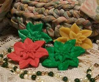 Silicone Poinsettia Flower Soap Candle Tart Mold #3