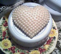 Silicone Pearl Covered Heart Soap Candle Tart Mold