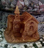 Silicone Old Village Church Soap Candle Mold