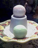 Silicone Mini Baseball Soap Candle Tart Mold #1