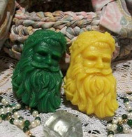 Silicone Old Time Santa Soap Candle Tart  Mold