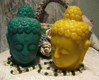 Silicone Large Buddha Head Candle Mold