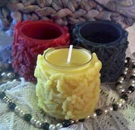 Silicone Holly Berry Tealight Candle Mold