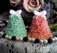 Silicone Holly Christmas Tree Soap Candle Mold Small