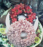 Silicone Holiday Christmas Wreath Soap Candle Mold #4