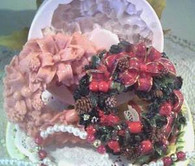 Silicone Holiday  Christmas Wreath Soap Mold #2