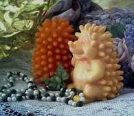 Silicone Happy Hedgehog #4 Soap Candle Mold