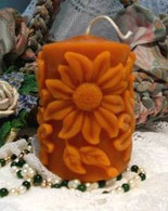 Silicone Daisy Sunflower Flower Pillar Candle Mold #2