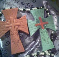 Silicone Cross Soap Candle Mold #4