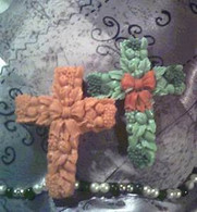 Silicone Cross Soap Candle Mold   #5