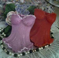 Silicone Corset With Ruffles Soap Candle Tart  Mold #2