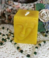 Silicone Buddha Small Square Candle Mold #2