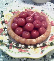Silicone Cherry Pie Tart Soap Candle  Mold
