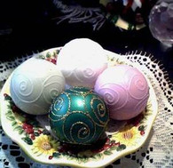 """Silicone Christmas Holiday Ball Soap Candle Mold 2"""""""