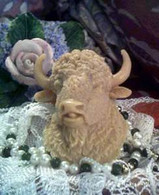 Silicone Buffalo Head Soap Candle Mold