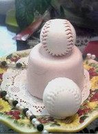 Silicone Baseball Soap Candle  Mold #2  Large