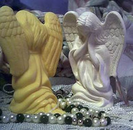 Kneeling Praying Angel Soap Candle Mold (1)