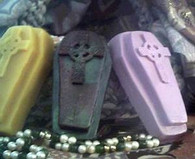Coffin Gothic Celtic Cross Soap Candle Mold #3