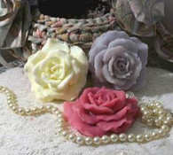 Silicone Full Bloom Open Rose Small Size Soap Candle Mold 2011