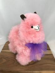 Small Pink Alpaca Fur Doll