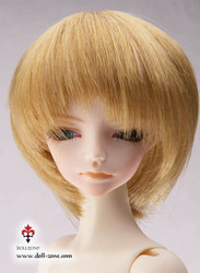 "W45-002 Dollzone MSD 7""-8"" Wig Short Light Brown"