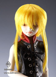 "W45-011 Dollzone MSD 7""-8"" Wig Double Tail Yellow"