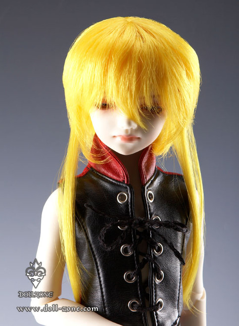 """W45-011 Dollzone MSD 7""""-8"""" Wig Double Tail Yellow"""