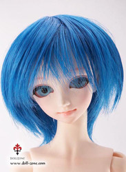 "30177A Dollzone MSD 7""-8"" Wig Short Blue"