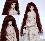 "GW45-005A Dollzone MSD 7""-8"" Wig Long Reddish Brown"