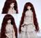 """GW45-005A Dollzone MSD 7""""-8"""" Wig Long Reddish Brown"""