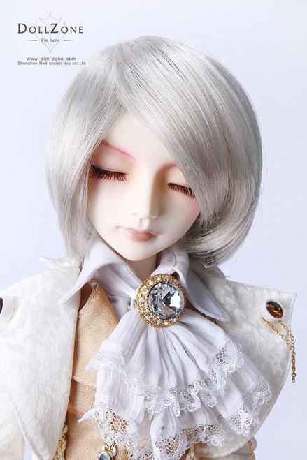 "W45-021 Dollzone MSD 7""-8"" Wig White Silver"