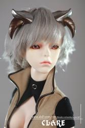 "W60-037 Dollzone SD 8""-9"" Wig Short Ash Blonde"