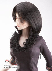 "30994A Dollzone SD 8""-9"" Wig Medium Black"
