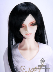 "30917A Dollzone SD+ 9""-10"" Wig Long Black"