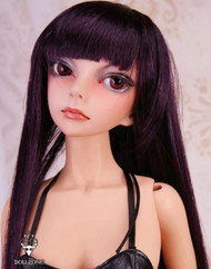 "W60-012 Dollzone SD 8""-9"" Wig Long Dark Plum"