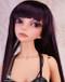 "W60-012 Dollzone SD 8""-9"" Wig Long Dark Plum"