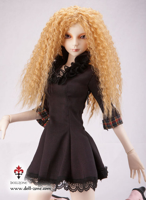 "38576B Dollzone SD 8""-9"" Wig Curly Amber Blonde"