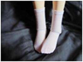 JC06-60 JC 1/3rd Scale White Socks for 60m Doll