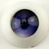Parabox Candy Eyes Half Round Acrylic Eyes - Dark Violet