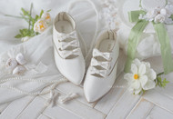 Dolly Planet SH11W 1/4 Scale Butterfly Silk Shoes White