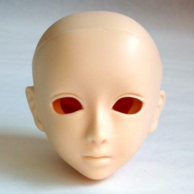 60HD-F07W-E Obitsu Blank Eyehole Haruka Head for 50cm-60cm Body