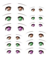 ED6-07 Parabox Eye Decal Set 7 for 11cm-27cm Fashion Dolls