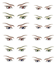 ED6-18 Parabox Eye Decal Set 18 for 11cm-27cm Fashion Dolls