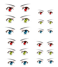 ED6-19 Parabox Eye Decal Set 19 for 11cm-27cm Fashion Dolls