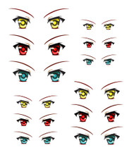 ED6-21 Parabox Eye Decal Set 21 for 11cm-27cm Fashion Dolls